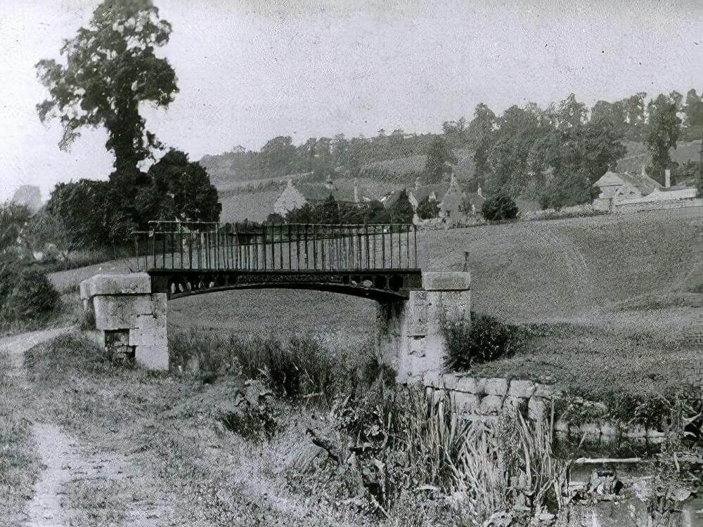 Footbridge to Longmeads, Monkton Combe, early 1900s