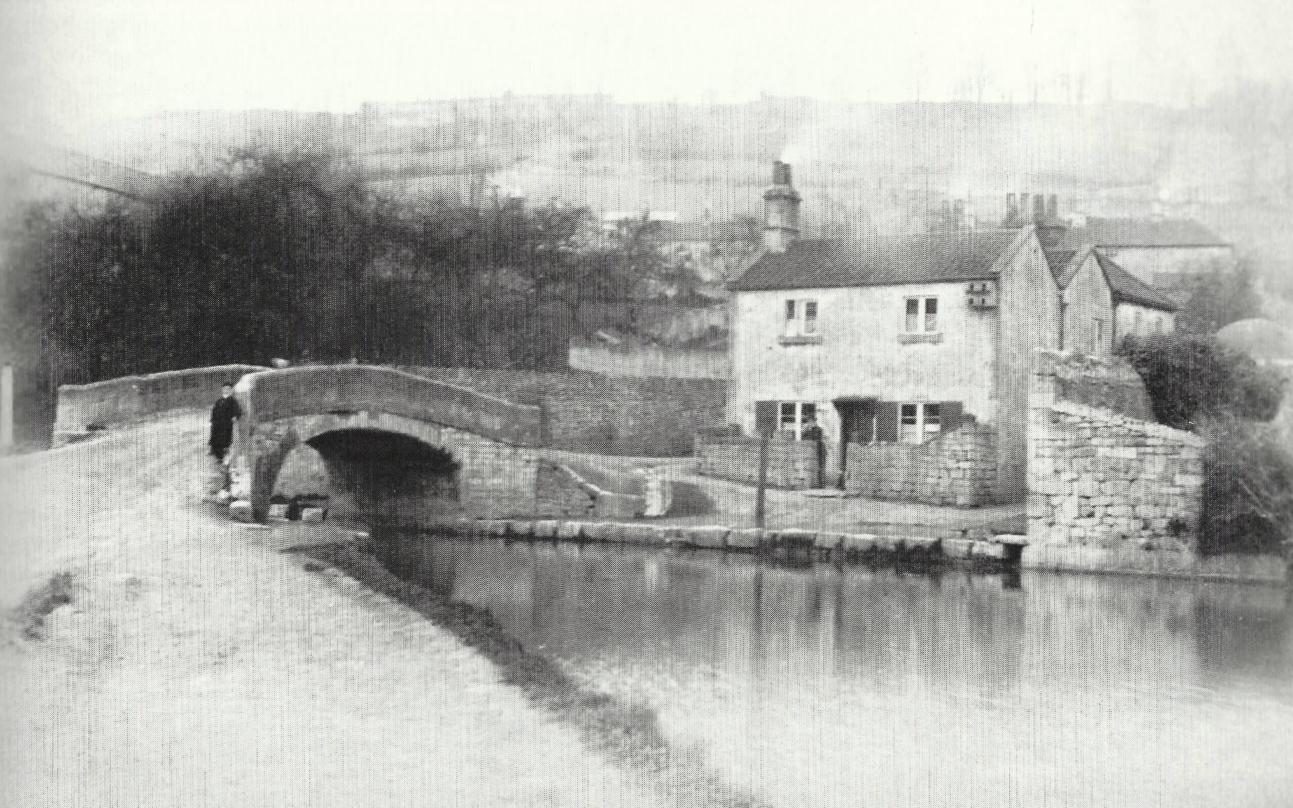 Mill Lane bridge, Monkton Combe about 1890