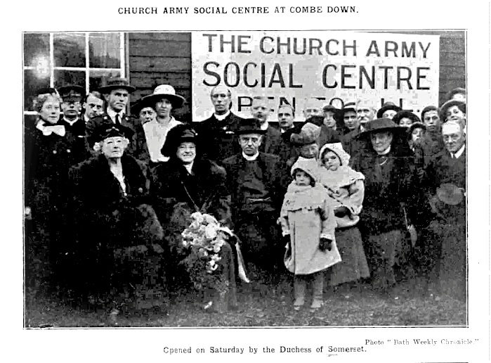Duchess of Somerset opens Church Army Social Centre, Combe Down, Bath Chronicle and Weekly Gazette - Sat 8 Nov 1919