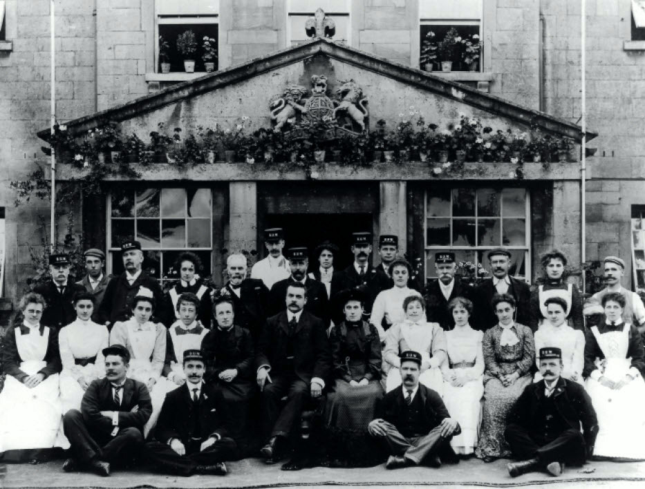 Frome road workhouse staff about 1900
