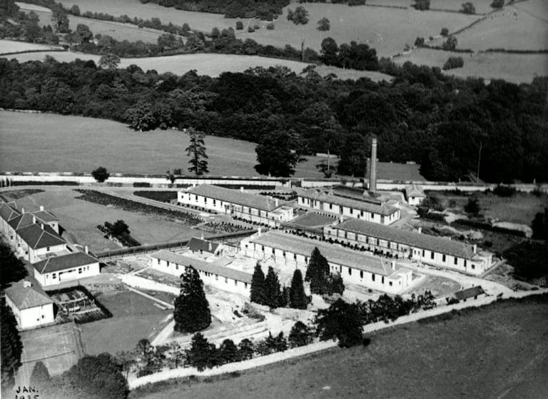 Isolation hospital aerial view aerial