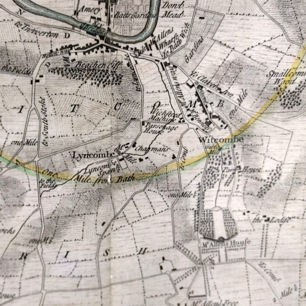 Perrymead area from Thorpe's map of 1742