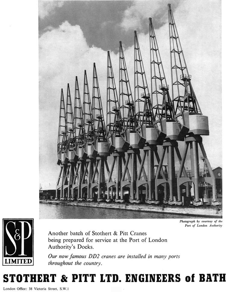 Stothert and Pitt Port of London crane advert